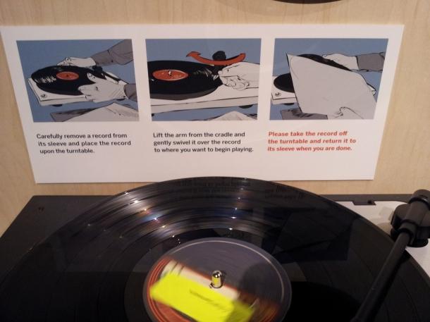 Instructions from vinyl exhibition, OCMA ©Joyce Millman