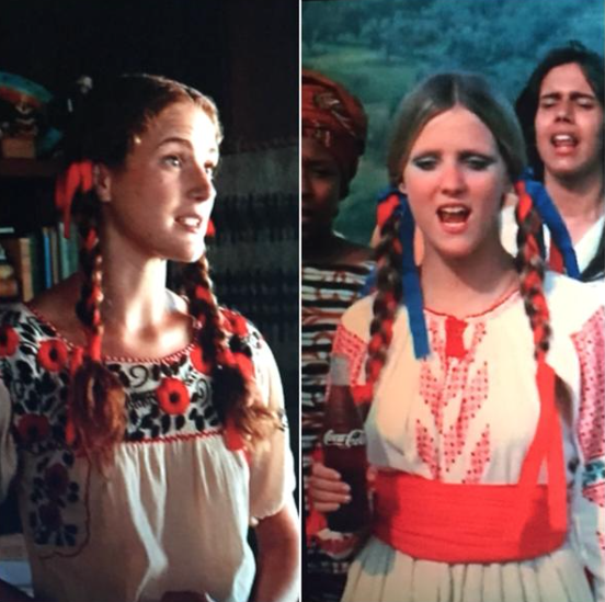 "Left: Front desk employee at Don's retreat. Right: Girl from actual ""Hilltop"" Coke ad."