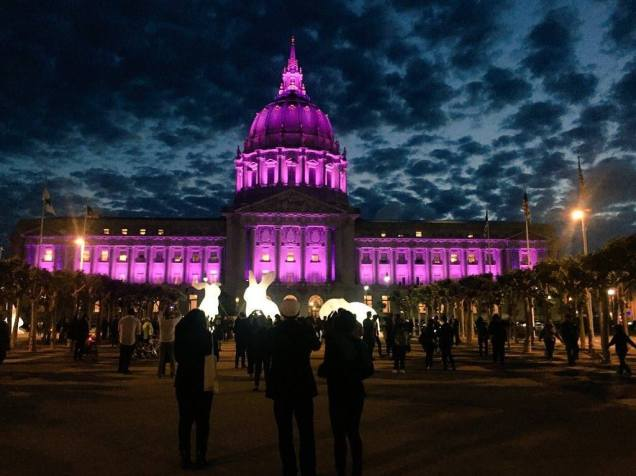 San Francisco City Hall lit purple for Prince